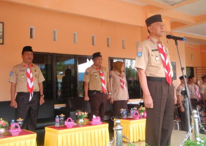 Upacara Pembukaan Perkemahan Penerimaan Tamu Ambalan